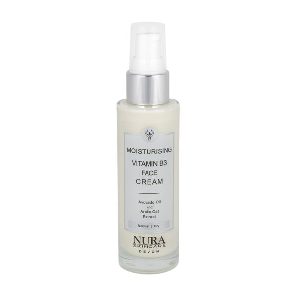 Moisturising-b3-cream-in-a-glass-bottle
