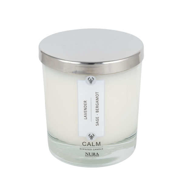 Scented Candle with Silver lid