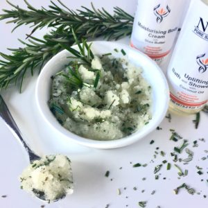 Natural uplifting Rosemary Petal Sugar Body Polish for super smooth skin