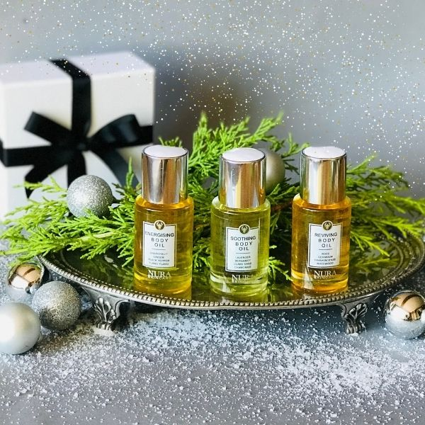 Trio of mini body oils