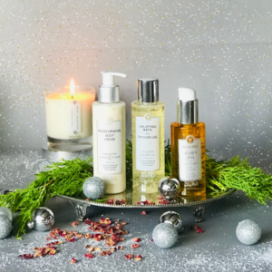 Shower Gel, Body Cream and Body Oil Gift set with Rose Essential oils